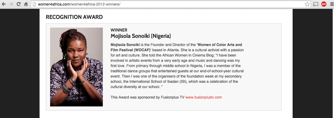 Mojisola Sonoiki wins Recognition Award at Women4Africa, UK